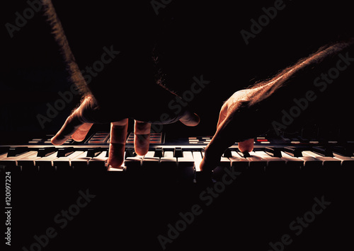 Fotografie, Obraz  Playing a Piano or Synth