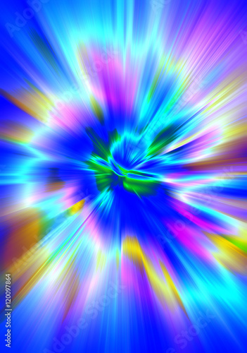Photo Stands Psychedelic Abstract blurred background