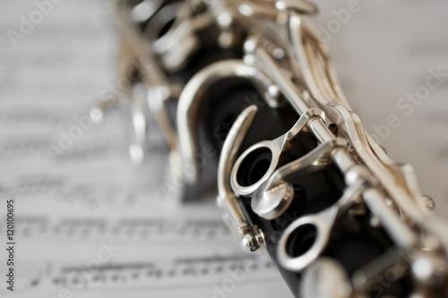 Tablou Canvas Detail closeup of a clarinet