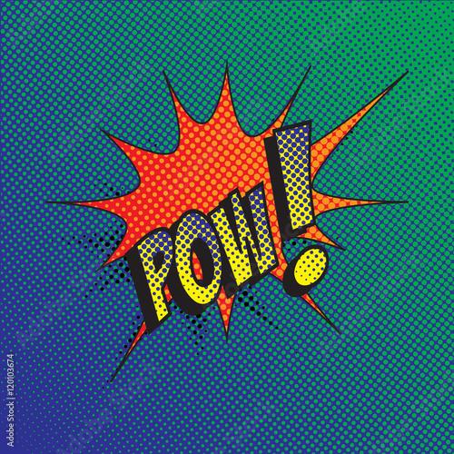 Obraz premium Kolorowy efekt komiksu stylu wybuch wektor