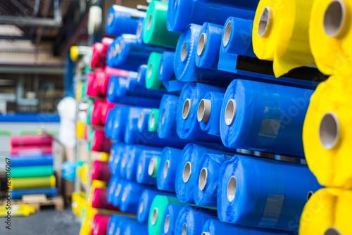 Obraz tkanina surowiec przemysł produkcja - fototapety do salonu
