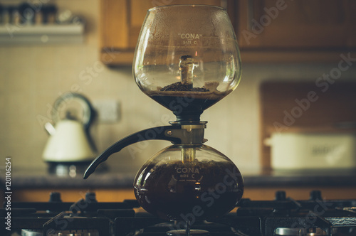 Photo coffee siphon