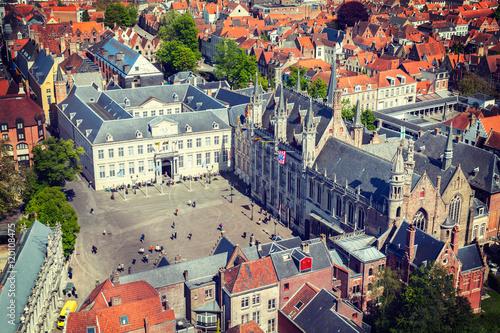 Deurstickers Brugge Aerial view of Bruges (Brugge), Belgium