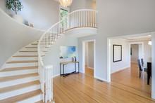 Elegant Stairway In New Home