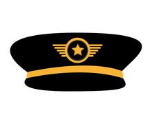 Pilot Plane Hat Uniform Vector...