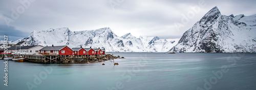 Lofoten islands in winter Canvas Print