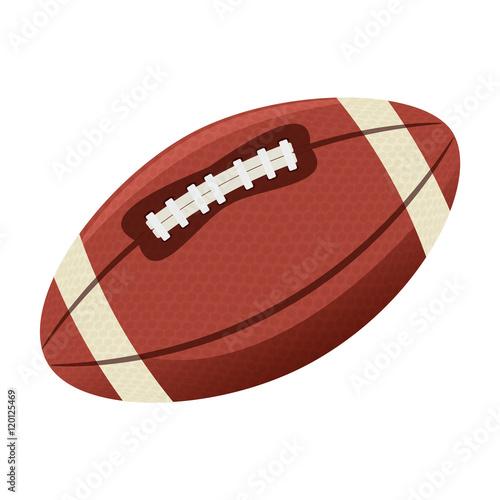 Fotobehang Wintersporten sport oval ball american football. game equipment. vector illustration