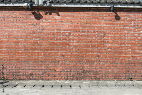 Staande foto Industrial geb. Large blank billboard on a street wall, banners with room to add your own text