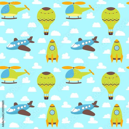 sliczny-bezszwowy-wzor-z-samolotem-helikopterem