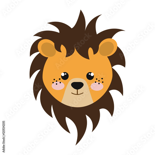 Fototapety, obrazy: yellow lion animal character cute cartoon. vector illustration