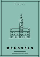 Minimal Brussels City Poster Design