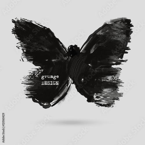 Photo sur Aluminium Papillons dans Grunge Rorschach test illustration.