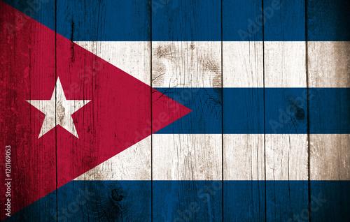 Valokuva  Wooden Flag of Cuba