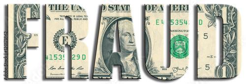 Valokuva Fraud or money waste crime. US Dollar texture.
