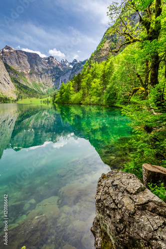 Stunning Obersee lake in Alps, Germany - 120186642