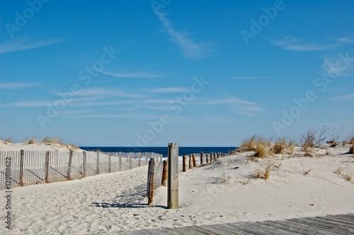 Fotografie, Obraz  Sunny beach day, waves crashing and blue skies