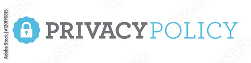 Fotografie, Tablou Privacy Policy Banner or Badge for Website or Email