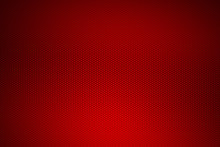Red Chrome Metallic Mesh. Metal Background And Texture.