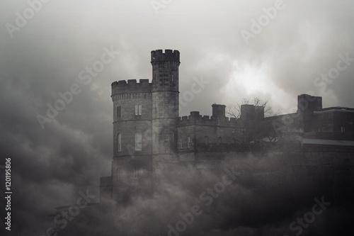 Cadres-photo bureau Chateau Castle on the rock - horror picture