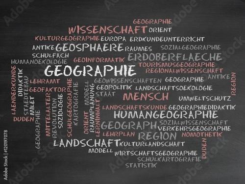 Plakat Geographie