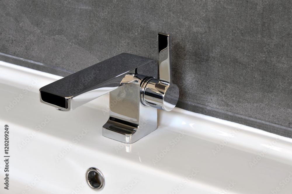 Photo Art Print Wasserhahn Waschbecken Badezimmer Armatur