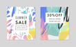 Set of creative Social Media Sale headers or banners with discount offer. Vector