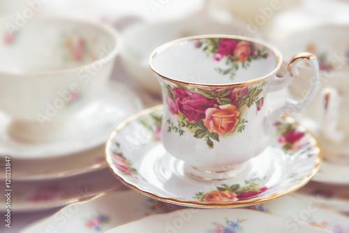 Tea cup vintage porcelain