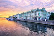Winter Palace On Neva River, S...