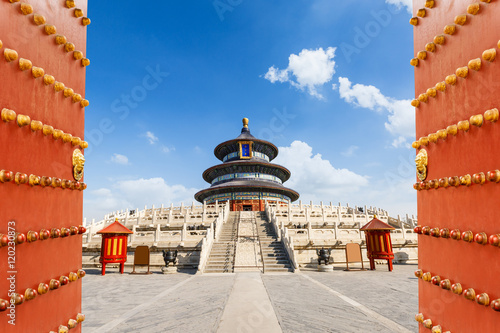 Poster Pekin The beauty of the ancient temple,Temple of Heaven in Beijing,China