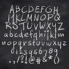 Vector Illustration Of Alphabet In Chalk