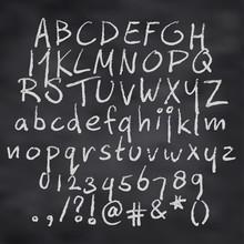 Vector Illustration Of Alphabet In Chalk