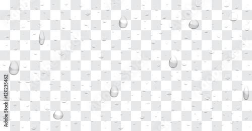 Valokuva  transparent water drop background vector