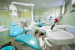 Photopolymer lamp on the dental unit in the modern dentist office. Stomatology