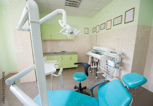 Dental unit and tools  On the background of chamber for