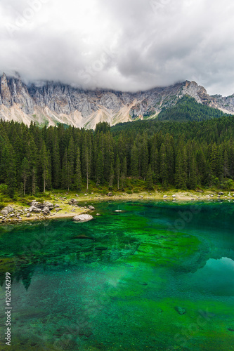 lake Misurina in the Alps