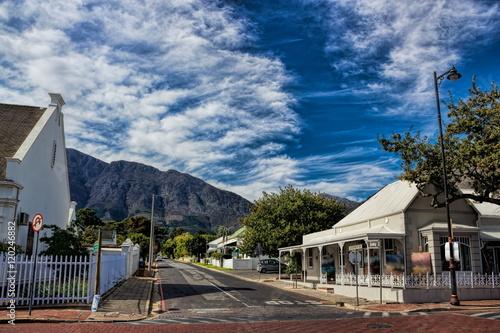 Poster Afrique du Sud Südafrika, Franschhoek