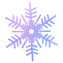 Colorful Figured Mosaic Snowflake, Snowflake Ornament With Colored Circle Shapes