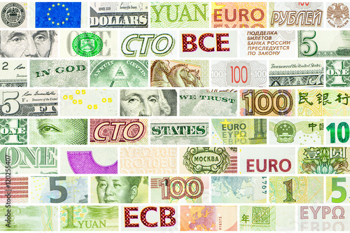 Poster Las Vegas four main world currencies wall