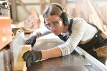 Young Woman In Crafstmanship S...