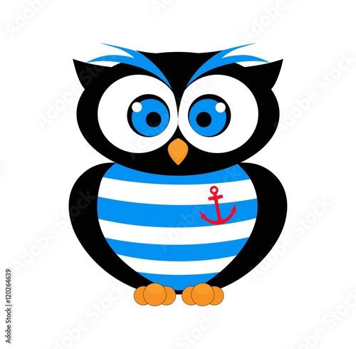 Fotografie, Obraz  Decorative Vector Owl. sailor vector