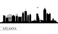 Atlanta City Skyline Silhouett...