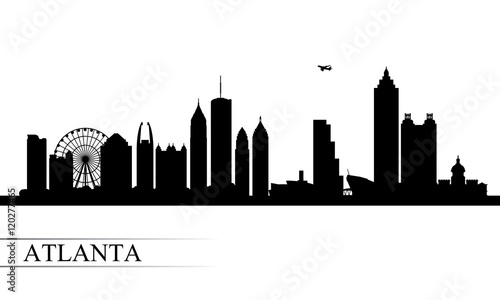 Photo Atlanta city skyline silhouette background