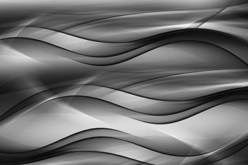 Panel Szklany Podświetlane Abstrakcja Abstract Black White Irregular Wave Design Background