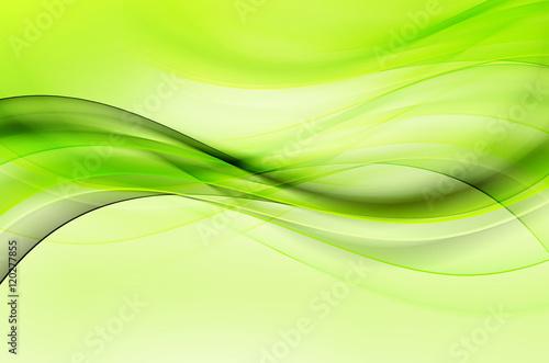 Plakat Zielona fala projekt streszczenie tło