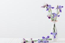 Bouquet Of Spring Purple Iris ...