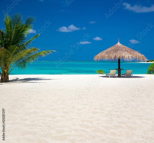 Cadres-photo bureau Tropical plage tropical beach in Maldives