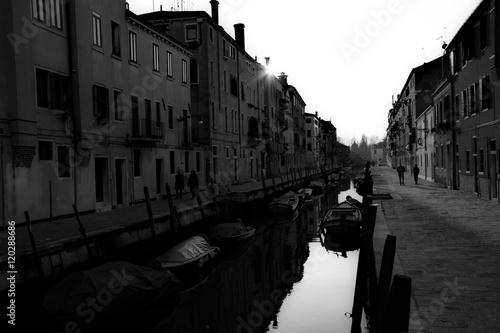 Fotografie, Tablou  Venezia in bianco e nero