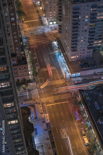 Fotografie, Obraz  NYC Streets from Above