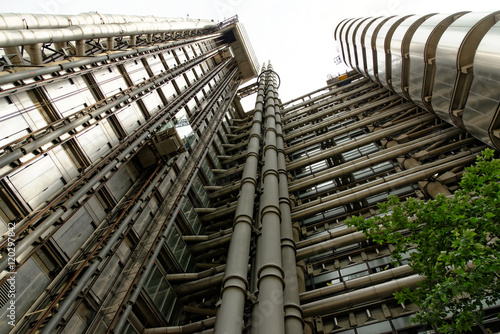 Photo  The Lloyd's Building, also known as The Inside-Out Building, home of insurance institution Lloyd of London