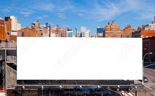 Photo  Big blank billboard in New York City. Copy space